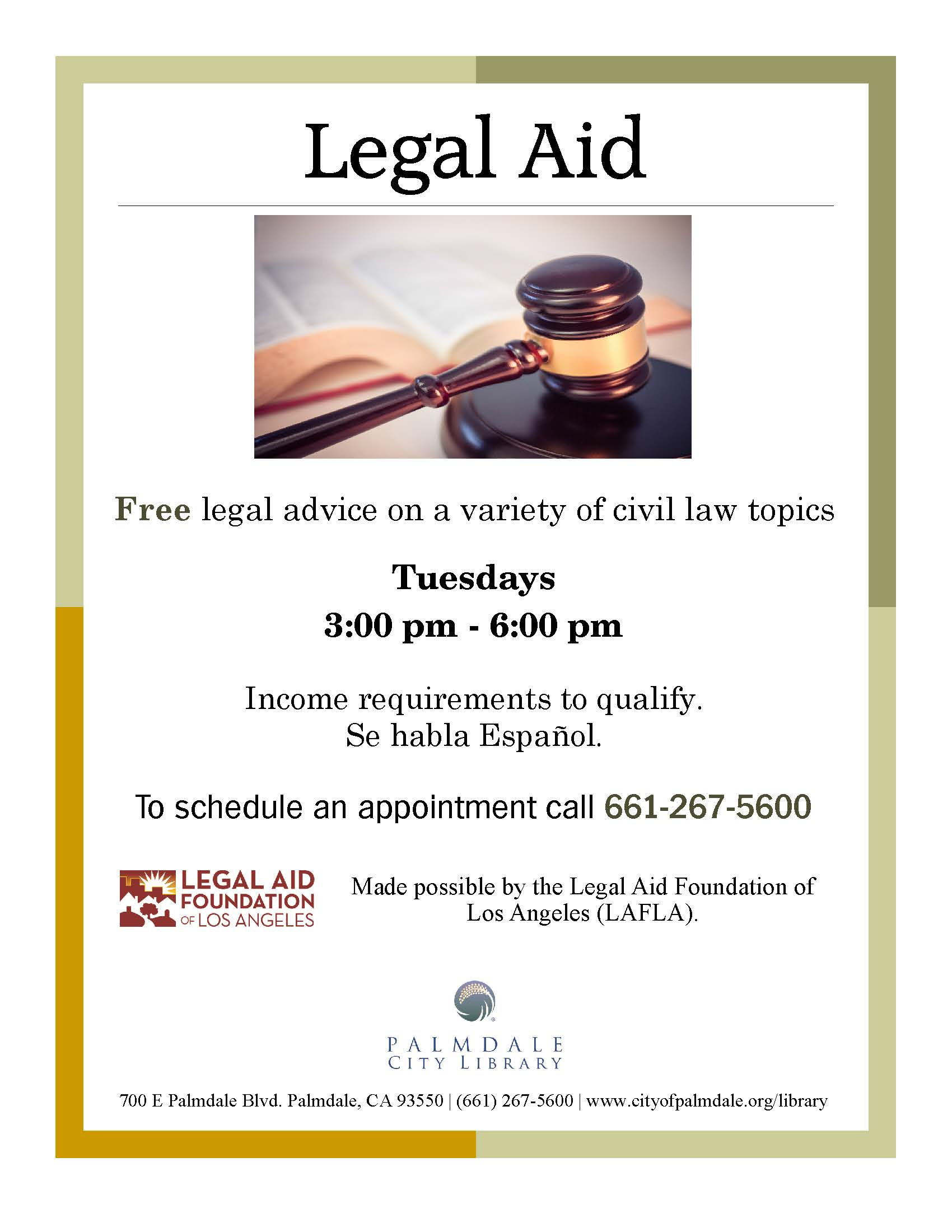 Legal Aid Program Flyer