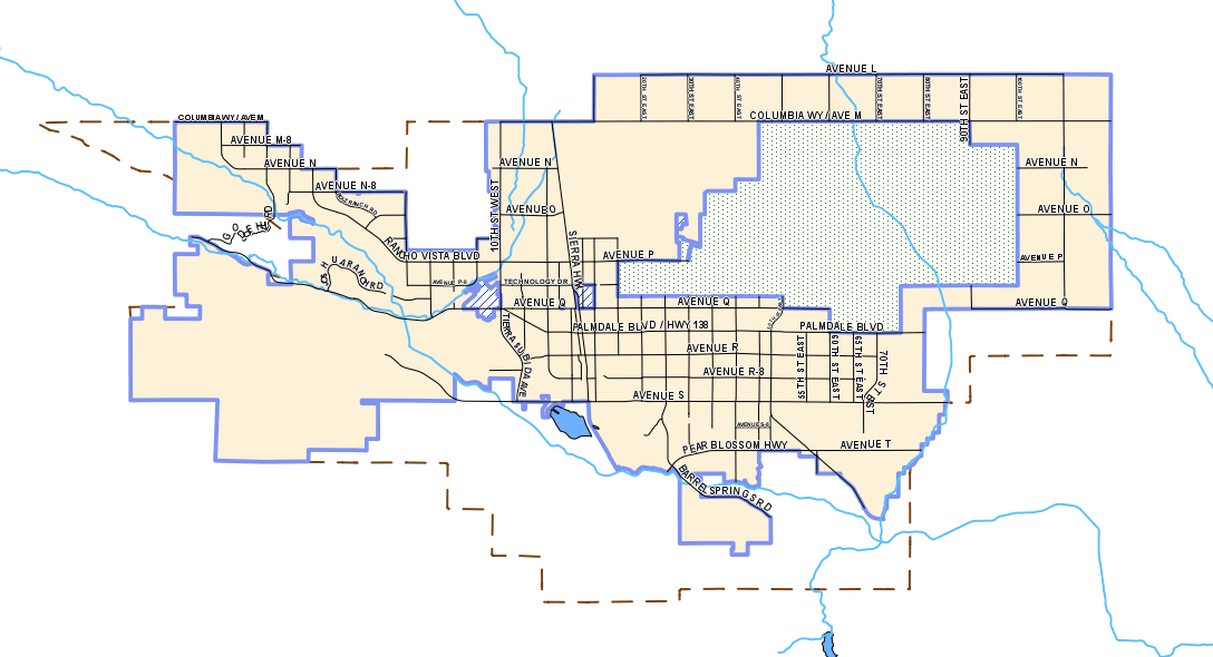 City of Palmdale Map
