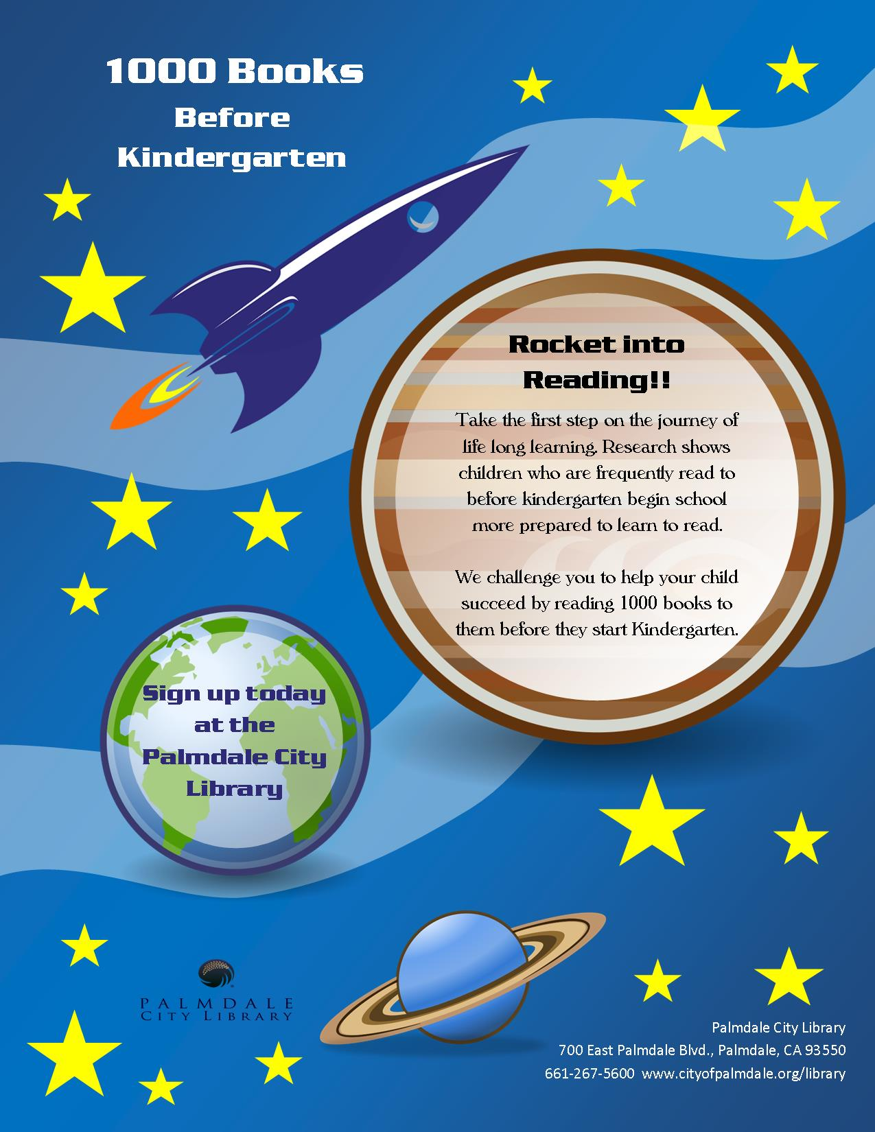 1000 Books Before Kindergarten Flyer